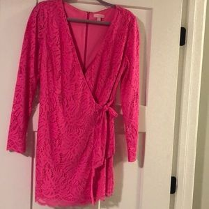 Hot Pink Lace Lilly Pulitzer Romper